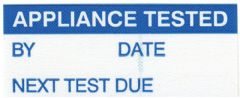 PRO POWER 7827282  Label, Appliance Tested, Pk350